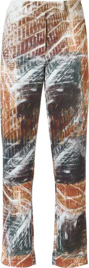 Printed Straight Trousers
