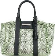 Allison Tote Women Leatherpolyamide One Size, Green