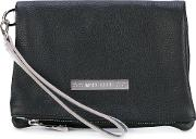Flossy Clutch Women Leather One Size, Black