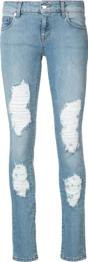Distressed Dixie Skinny Jeans