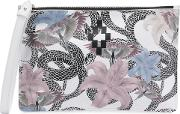 Flowers Snakes Clutch Bag