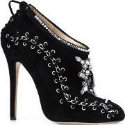 'harper' Embroidered Boots Women Leathersuede 40