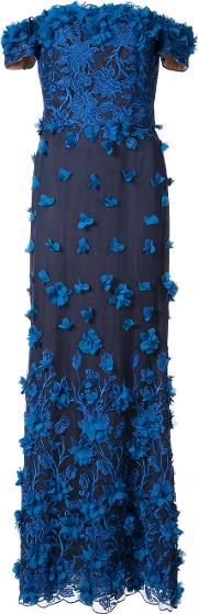 Embroidered Floral Appliqued Gown