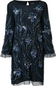 Sequin Embroidered Dress Women Nylonsequin 8, Blue