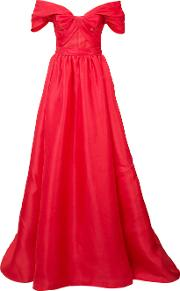 Off Shoulder Dress Women Silk 2, Red