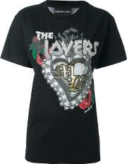 'the Lovers' T Shirt Women Cotton 42, Black