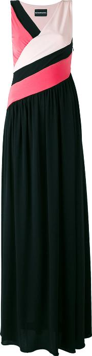 Colour Block Evening Dress Women Polyesterspandexelastane 44, Black