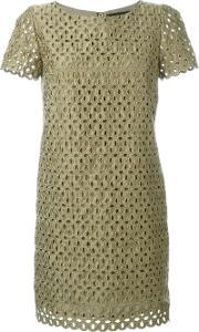 Lace Cut Out Dress Women Polyester 40, Women's, Green