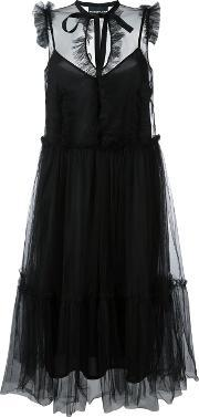 Sleeveless Tulle Dress Women Polyimide 44, Women's, Black