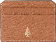 Brand Stamp Cardcase Women Leather One Size, Brown