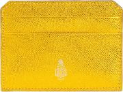 Worn Out Effect Cardholder Women Leather One Size, Yelloworange