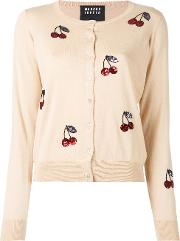 Sequin Cherry Cardigan Women Cottonplastic M, Nudeneutrals
