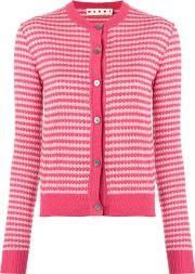 Cropped Patterned Cardigan