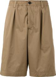 Drawcord Shorts Men Cotton 46, Brown
