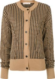 Houndstooth Sculpted Cardigan