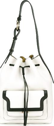 Trunk Duffle Bag Women Calf Leatherbrass One Size, White