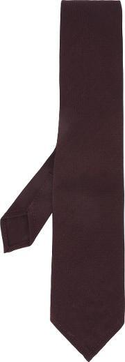 Woven Tie Men Wool One Size, Red