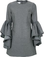 Frill Sleeves Dress Woen Cottonpolyester
