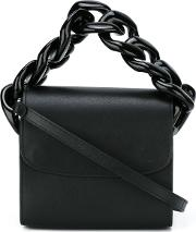 Marques'almeida Chain Trim Cross Body Bag Women Goat Skin One Size, Black