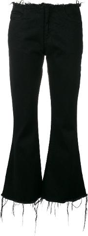 Marques'almeida Cropped Flared Jeans Women Cotton 8, Black