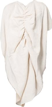 Marques'almeida Draped Asymmetric Top Women Linenflax S, Nudeneutrals
