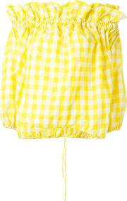 Marques'almeida Off Shoulder Blouse Women Polyesterpolyimide M, Yelloworange