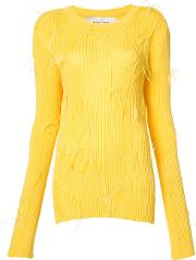 Marques'almeida Ribbed Sweater Women Viscosepolyamide Xs, Yelloworange