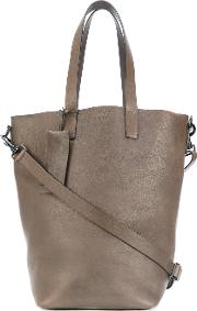 Bucket Tote Bag Women Leather One Size, Brown
