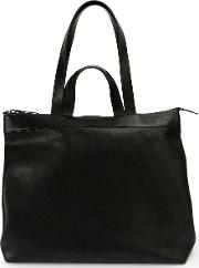 Classic Tote Bag Men Calf Leather One Size, Black