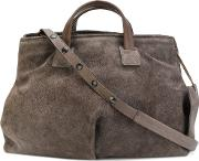 Slouchy Tote Bag Women Leather One Size, Grey