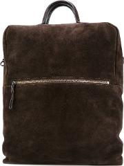 Structured Backpack Women Leather One Size, Brown