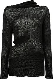 Asymmetric Cut Out Detail Knitted Top Women Linenflax S