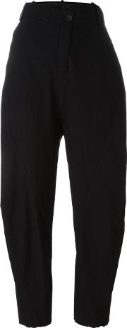 Low' Waisted Trousers Women Cotton 42, Black