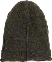 Masnada Classic Beanie Men Linenflaxcashmerewool One Size, Green