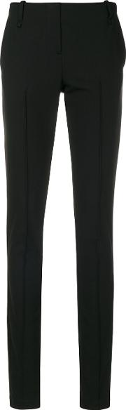 Masnada Slim Tailored Trousers Women Polyesterspandexelastaneviscosewool 40, Black