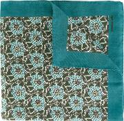 Abstract Pattern Foulard Men Cashmere One Size, Blue