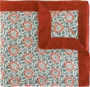 Abstract Pattern Foulard Men Cashmere One Size, Red