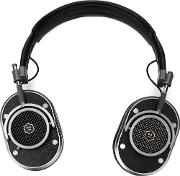 Mw40 Over Ear Headphones Unisex Calf Leathermetal Other One Size, Black