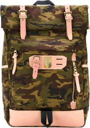 Camouflage Backpack Men Leathernylon One Size, Green