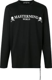 Long Sleeve Skull Print T Shirt