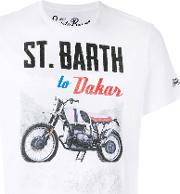 Dakar Print T Shirt Men Cotton M, White