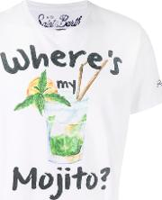 Mojito Print T Shirt Men Cotton L, White