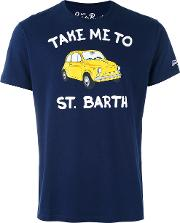 St. Barth Print T Shirt Men Cotton Xl, Blue