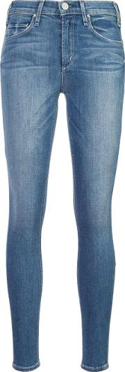 Mcguire Denim Light Washed Skinny Jeans Women Cottonpolyesterspandexelastane 28, Blue