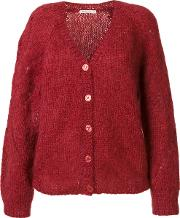 Mes Demoiselles V Neck Cardigan Women Mohairacrylicpolyamide I, Red