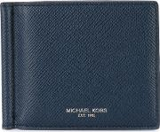 Billfold Wallet Men Leather One Size, Blue