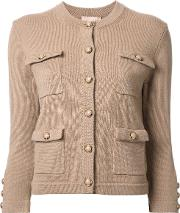 Cashmere Patch Pocket Cardigan Women Cashmere S, Brown