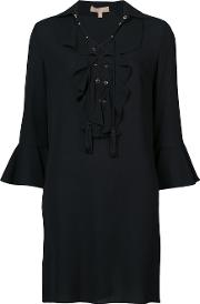 Lace Up Front Shift Dress