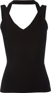Crossed Straps Blouse Women Polyesterviscose Xs, Black