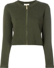 Zipped Cardigan Women Nylonspandexelastaneviscose S, Green